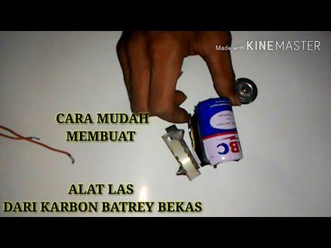 Cara Membuat Alat Las Dari Battery Bekas+Aki 12 Volt