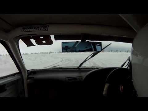 Ice Race Car Rollover