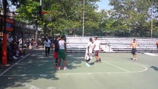 Isiah Thomas playing with the neighborhood kids