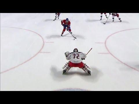 Blue Jackets' Bobrovsky denies Canadiens' Byron on a breakaway