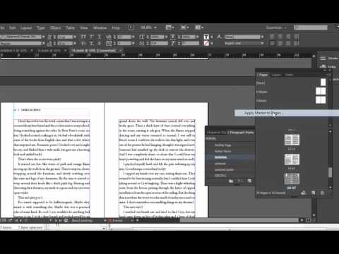 How to format a book for print in Adobe InDesign with free templates