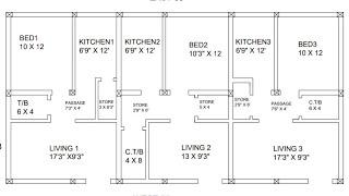 55 × 28 South west  Face house plan map naksha