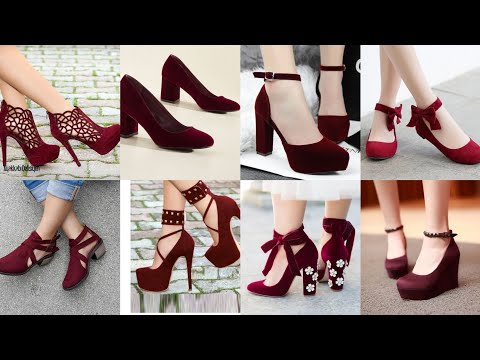Hetty Mid Red Wedding Shoes Hetty Red Bridal Shoes Different Types Of Red Velvet Footwear Collection