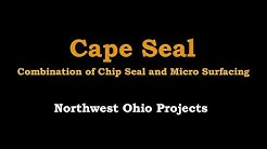 Strawser Construction Inc. - Northwest Ohio Cape Seal