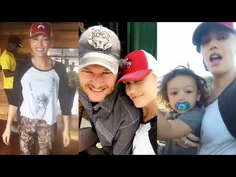 Gwen Stefani and Blake Shelton together on his ranch with the kids  | Snapchat | August 15 2016