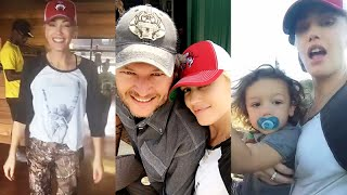 gwen stefani and blake shelton together on his ranch with the kids   snapchat   august 15 2016
