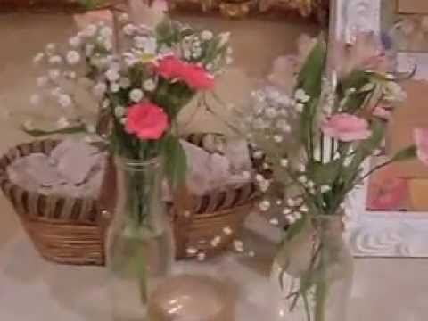 jesse/rebecca-roman-wedding-reception,-cake,-guest-list-table,-flowers,-gift-table,-book.-guests