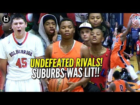 Suburbs Was LIT! UNDEFEATED RIVALS Romeoville vs Bolingbrook! HS Basketball Highlights