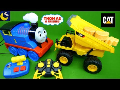 Thomas & Friends Stop & Go RC and Caterpillar Construction Dump Truck Remote Control Toys for Kids