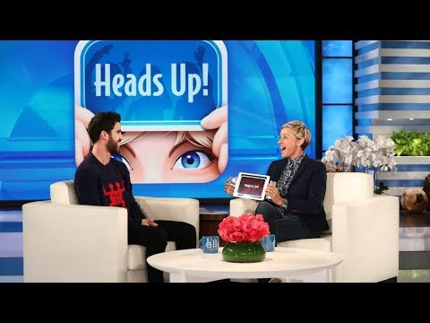 Darren Criss Plays 'Heads Up!'