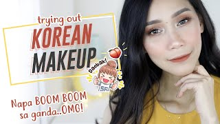 TRYING KOREAN MAKEUP | FULL FACE OF FIRST IMPRESSIONS | YesStyle