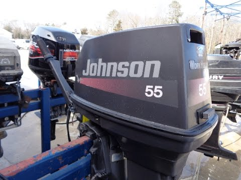 G04557401 used 1999 johnson j55wrlees 55hp 2 stroke tiller for 55 johnson outboard motor
