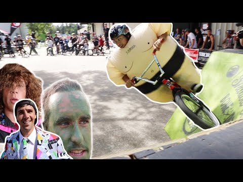 SUMO RIDES BMX ON THE CURVED WALL!