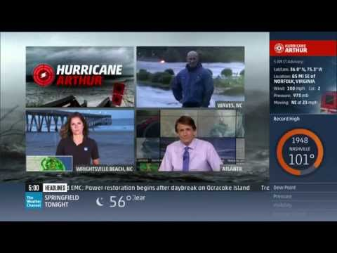 Hurricane Arthur Coverage (7/4/14 5am-6am) - The Weather Channel