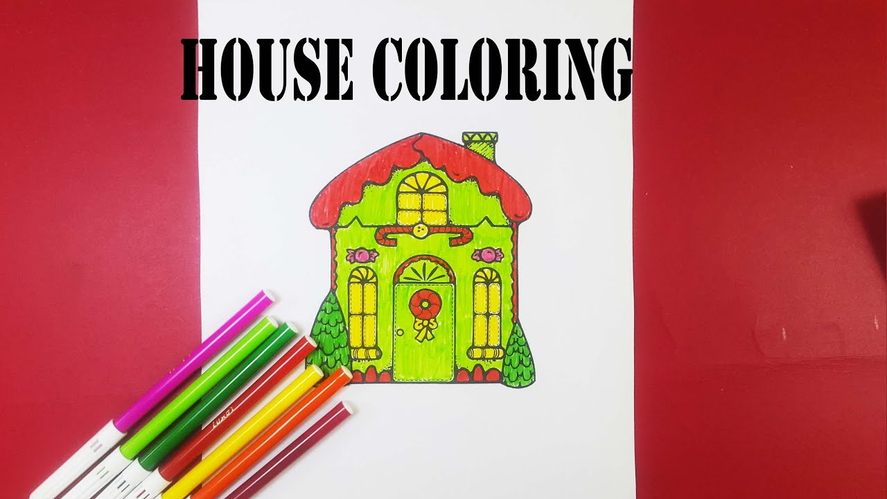 Download How to coloring house - baby house coloring pages