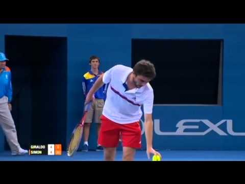 Santiago Giraldo v Gilles Simon - Men's Singles Quarter Final: Brisbane International 2012