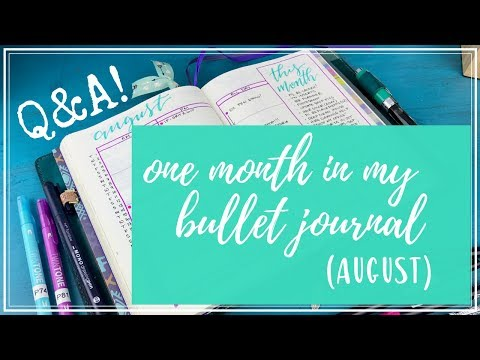 One Month in my Bullet Journal | Round 2 | Q&A!!!