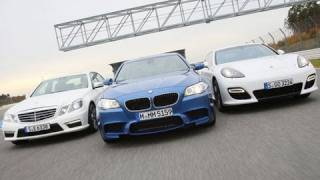 Test: BMW M5, Mercedes E 63 AMG und Porsche Panamera Turbo S [HD]