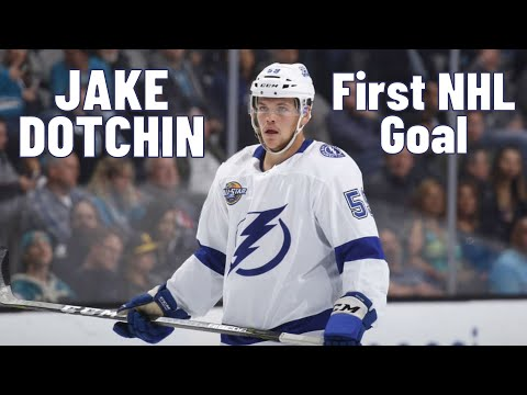 Jake Dotchin #59 (Tampa Bay Lightning) first NHL goal 08.11.2017