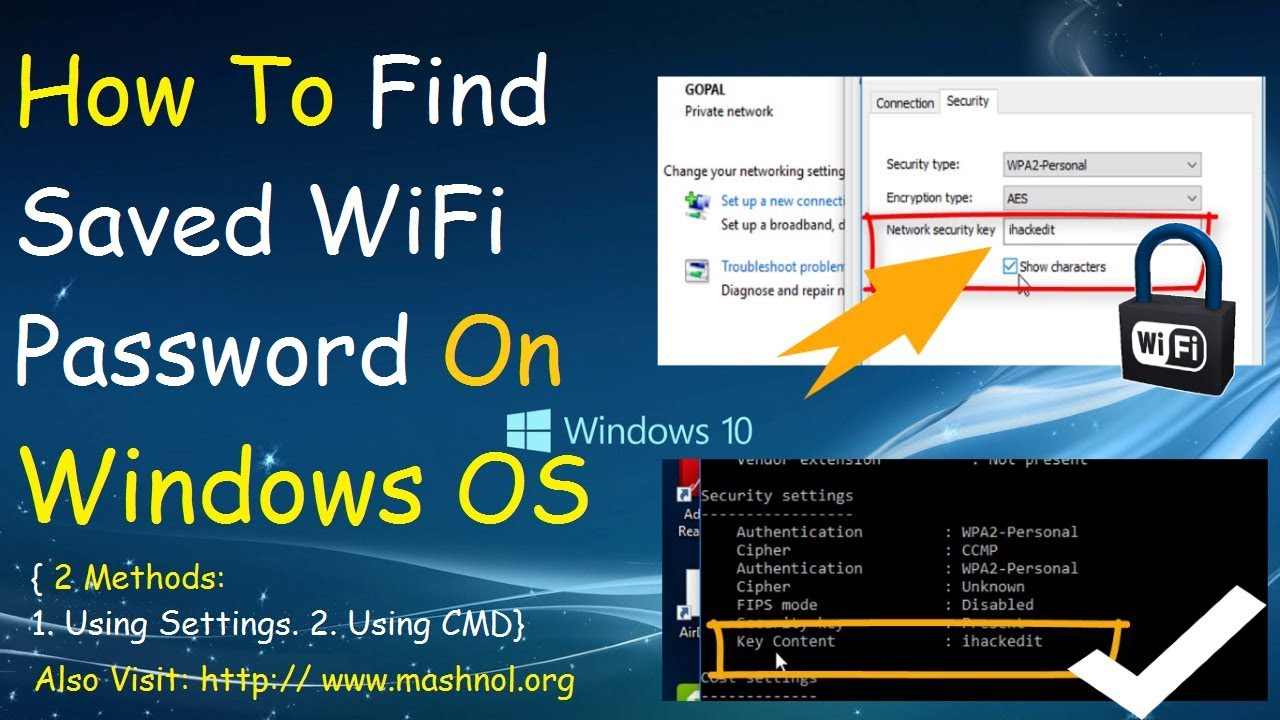 How to Find Saved WiFi Passwords on Windows 7, 8, & 10