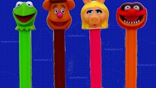 Muppets PEZ Candy Dispensers Kermit the Frog Miss Piggy | itsplaytime612