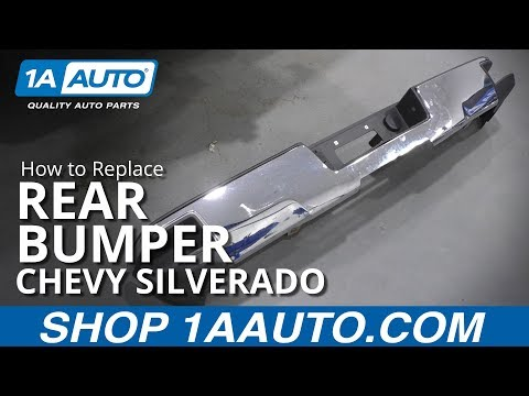 How to Replace Rear Bumper 14-19 Chevy Silverado