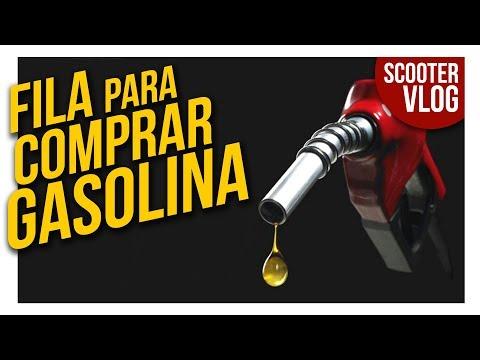 FILA para comprar GASOLINA no sexto dia de protesto dos caminhoneiro