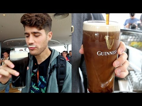 Guinness Brewery Tour And Food Vlog In Dublin, Ireland! DEVOUR POWER