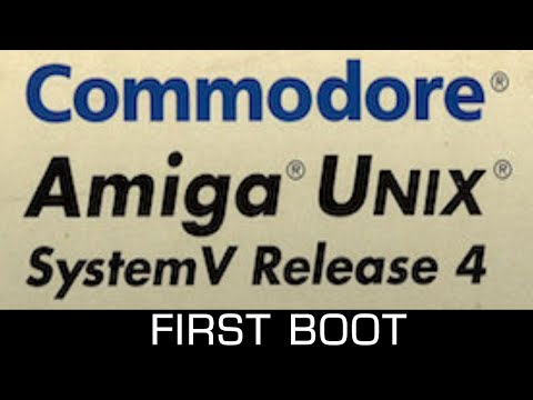 Amiga UNIX (AMIX, 1992) first boot using WinUAE
