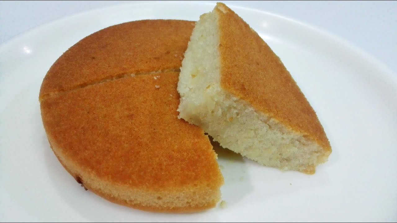 Easy eggless vanilla sponge cake recipe
