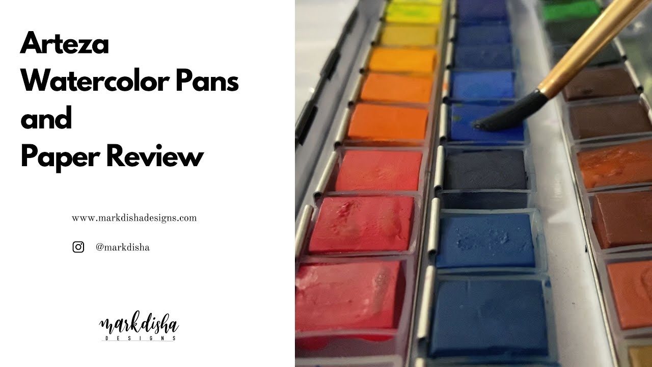 Arteza 36 Watercolor Pan Set and Paper Review