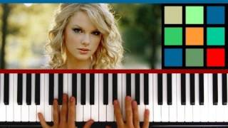 "How To Play ""Love Story"" Piano Tutorial / Sheet Music (Taylor Swift)"
