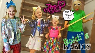 Baldi's Basics in Real Life in JoJo's Closet! JoJo Siwa New Merch Scavenger Hunt!