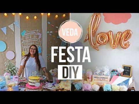 DIY - DECORAÇÃO DE FESTA EM 24H | VEDA #25