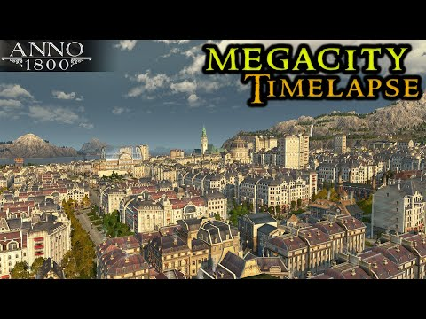 Anno 1800 MEGACITY Timelapse  Building From Scratch Crown Falls || City Builder Strategy 2021