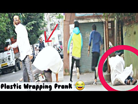 PLASTIC WRAPPING PEOPLE PRANK ! GONE WRONG ! PRANK IN INDIA 2020 ! BY TPK