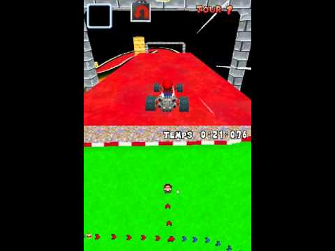Mario Kart DS ROM Hack - SM64 Princess's secret slide with music