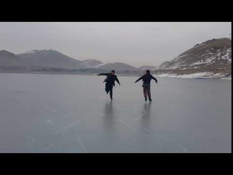 Skating over frozen Lake of Qargha