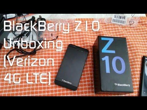 Blackberry Z10 Unboxing (Verizon 4G LTE Model)