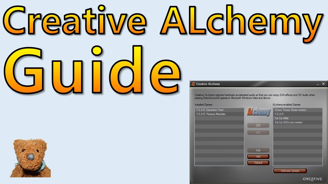 DRIVERS CREATIVE ALCHEMY (X-FI EDITION)