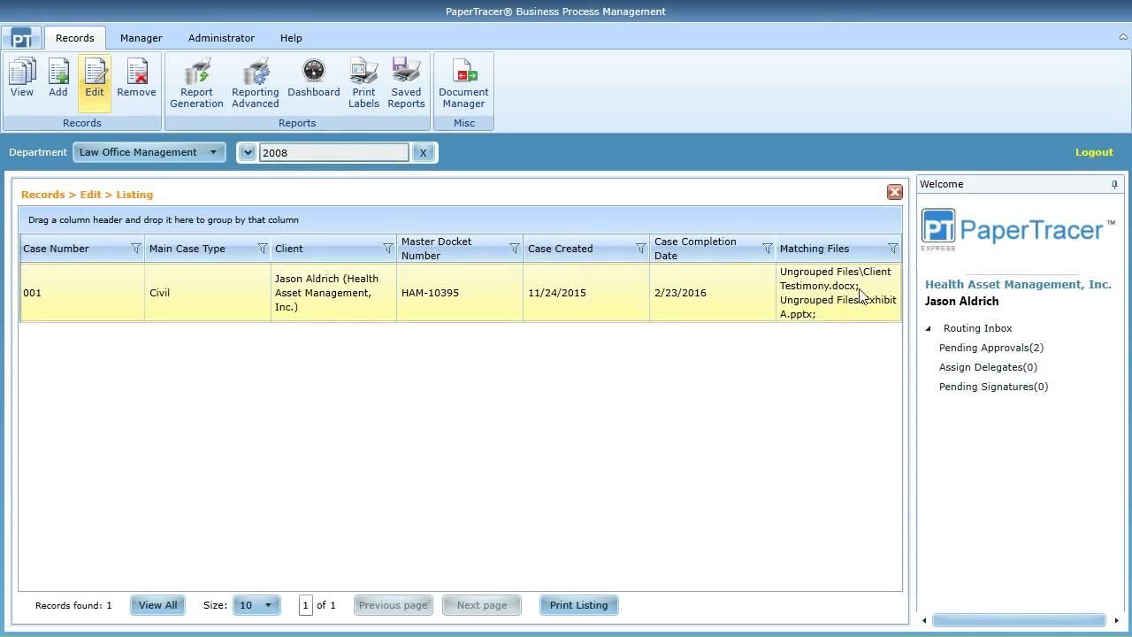 Law office management - Law Office Management Workflow Solution