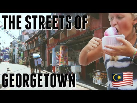 Georgetown Streets, Penang | Full-time travel family vlog