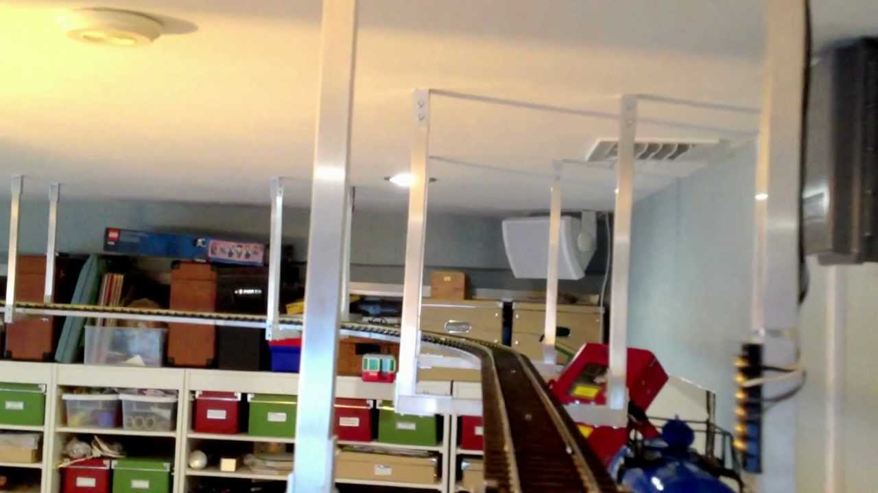 One Off Suspended Model Train Track Youtube