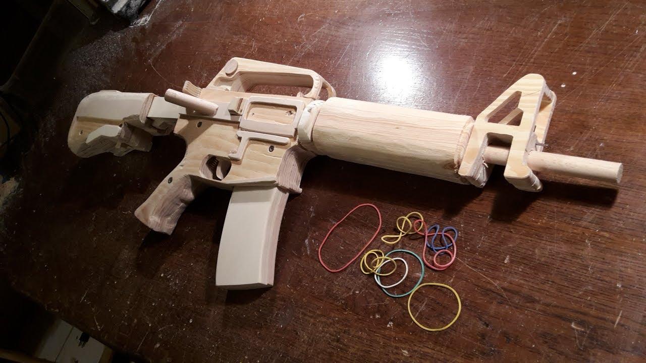 How To Make A Semi Auto M16 Rubberband Gun Free