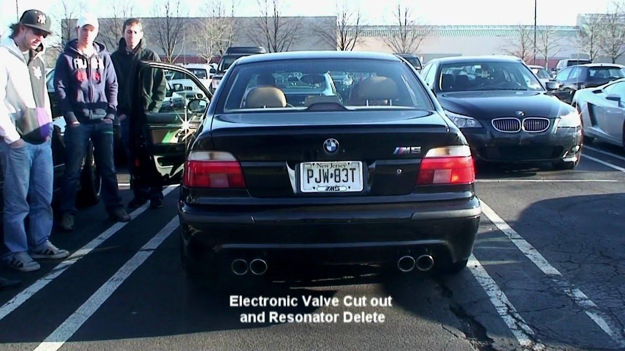 E39 m5 muffler delete exhaust battle