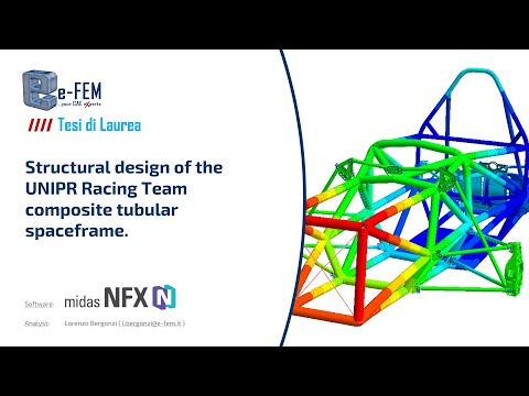 Structural design and validation of the UNIPRRacingTeam composite tubular spaceframe