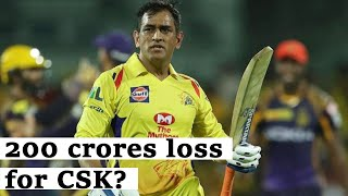 IPL 2020 |CSK shares lost nearly 200 crores in few months