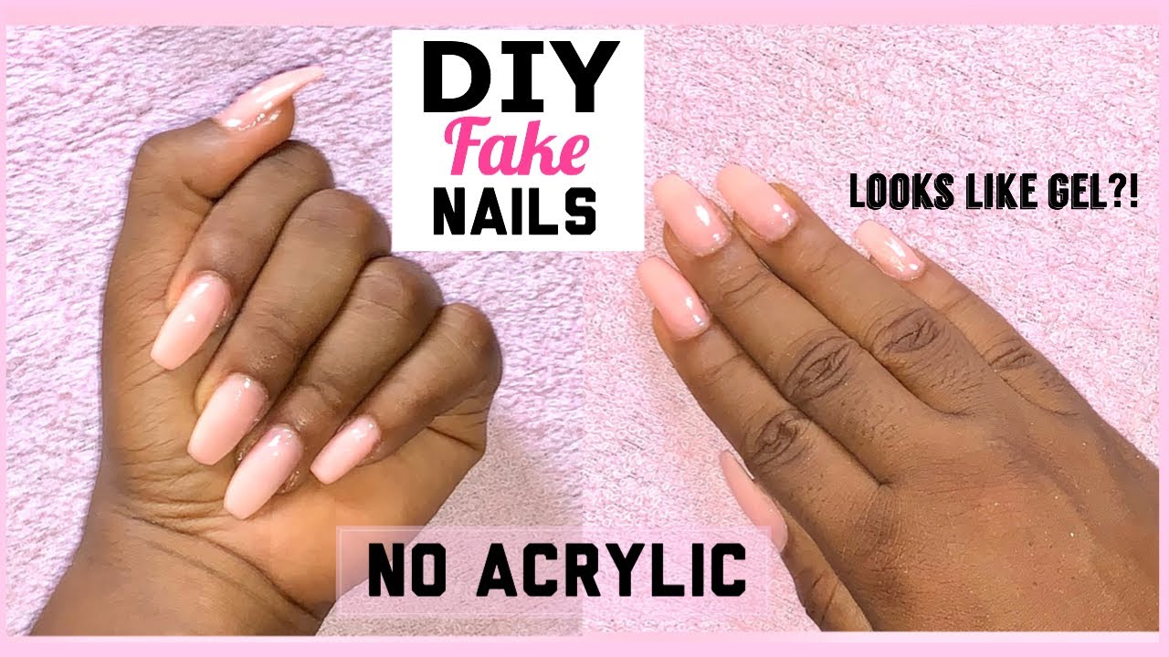 HOW TO DO FAKE NAILS AT HOME FOR BEGINNERS - YouTube