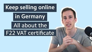 Online marketplaces like #amazon, #ebay, and etsy are asking sellers to comply with the german taxation law provide f-22 tax certificate (ust. 1 ti) ...