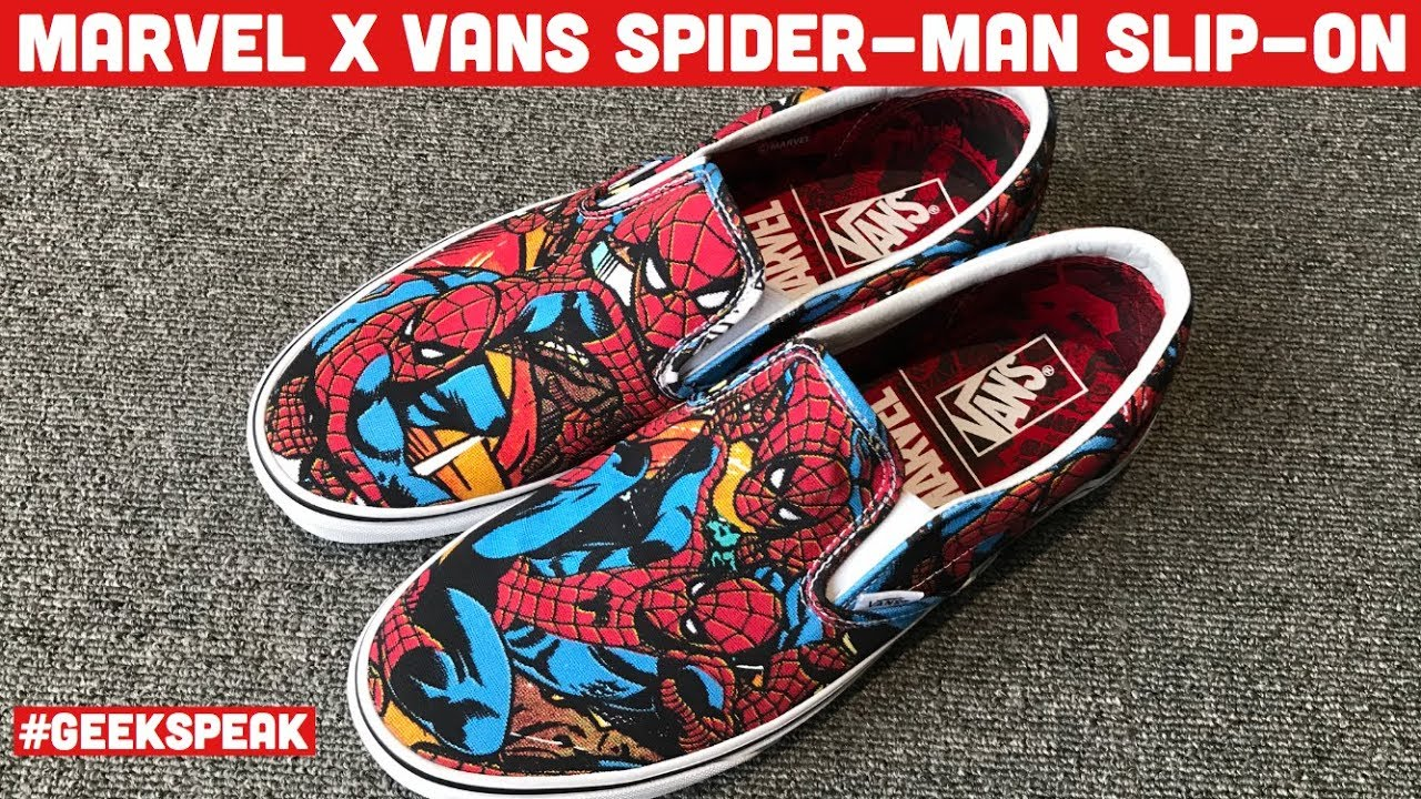 ON MAN VANS SLIP REVIEWGeek AND MARVEL SPIDER CLASSIC UNBOXING 6vyIbf7Yg